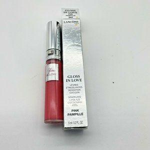 Lancome Gloss In Love Sparkling Lipglaze - 341 Pink Pampille - 0.2 fl oz. NIB